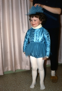 4 years old - ice ballerina at the Summerland Ice Carnival