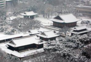 Winter scene at 5 Palaces in Seoul