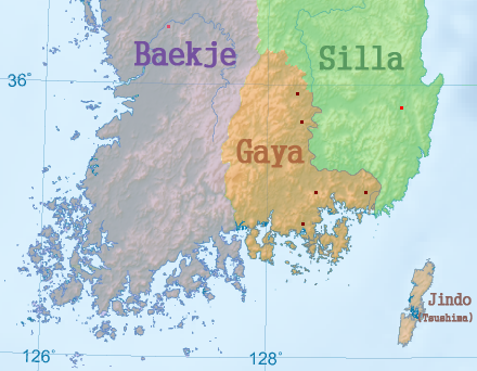 Map of Gaya from Wikipedia site