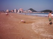 little one enjoying sun at the Songjeong beach